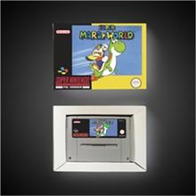 سوبر Marioed العالم EUR نسخة آر بي جي بطاقة الألعاب توفير البطارية مع صندوق البيع بالتجزئة