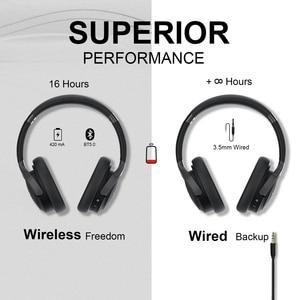 Image 4 - TeckNet składany zestaw słuchawkowy Bluetooth 5.0 z mikrofonem bezprzewodowy zestaw słuchawkowy Bluetooth redukcja szumów Hi Fi słuchawki nauszne stereo z Bluetooth