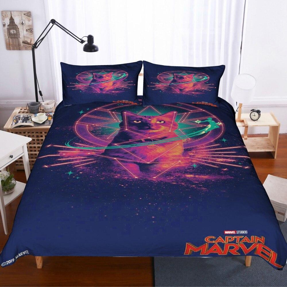 Droshipping Captain Bedding Set Superhero Duvet Cover Set Sexy Beauty Bed Linen Set Twin Full Queen King Size 2/3pcs Bedclothes