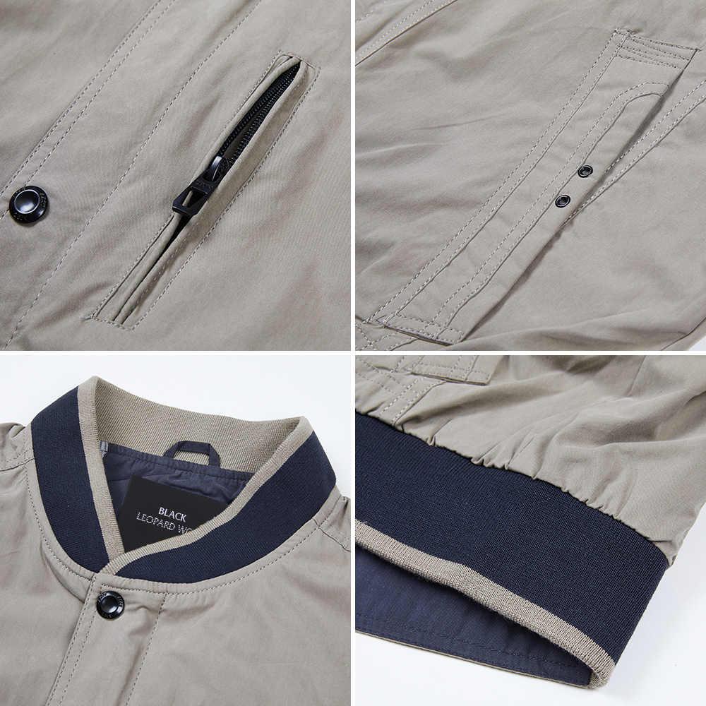 Blackleopardwolf erkek giyim 2020 adam için ceket casaco yeni casual erkek ince ceket ceket kot ceket bombacı ceket 12085