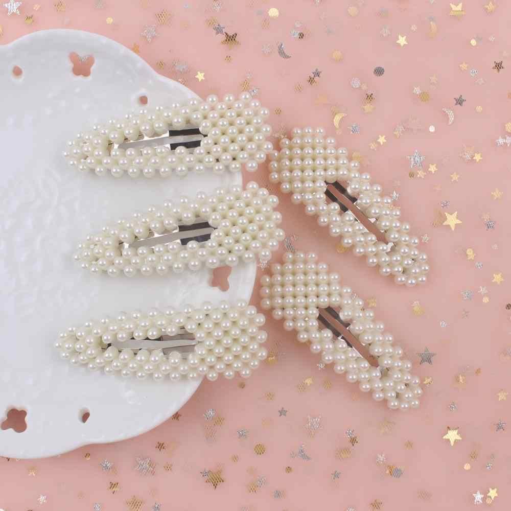 2019 neue Koreanische Vintage Volle Perle Haarnadeln Mode Barrettes Imitiation Perle Haar Clips Für Mädchen Haar Styling Accessories1pcs