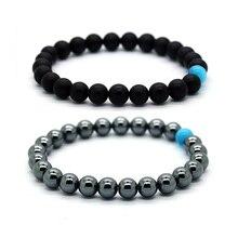 BOFEE Bead Lava Stone Bracelet Yoga Aromatherapy Essential Oil Diffuser Chakra Reiki Prayer Fashion Jewelry Gift Women Men 8mm