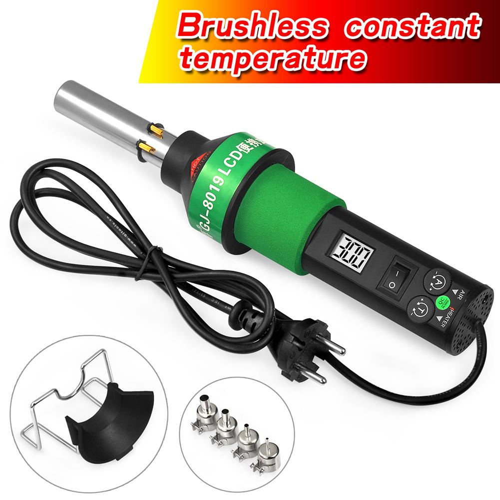 New Hot Air Gun 8019LCD Constant temperature brushless 450 Degree Adjustable Electronic Heat EU/US with Four Nozzle Power Tools|Heat Guns| |  - title=