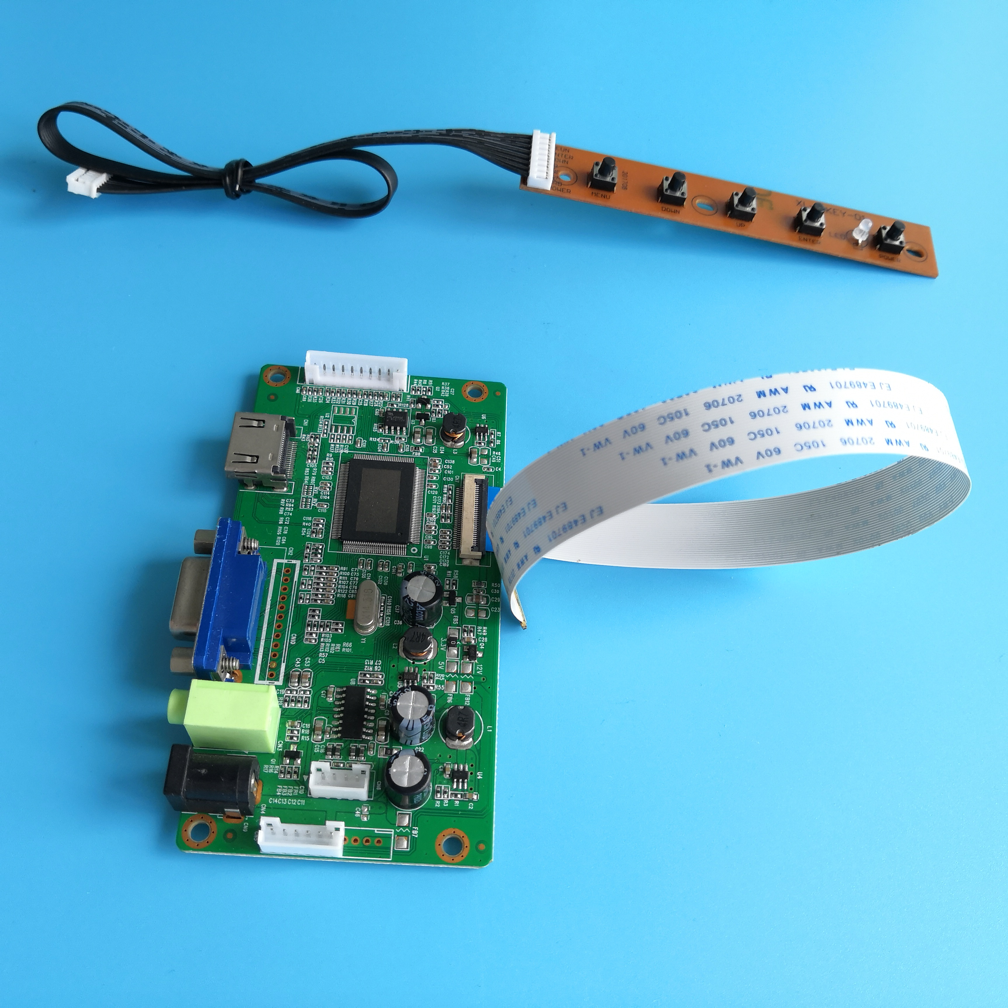 HDMI+DVI+VGA LCD Display Controller Board Kit for WLED LVDS 40pin LTN156AT19-001