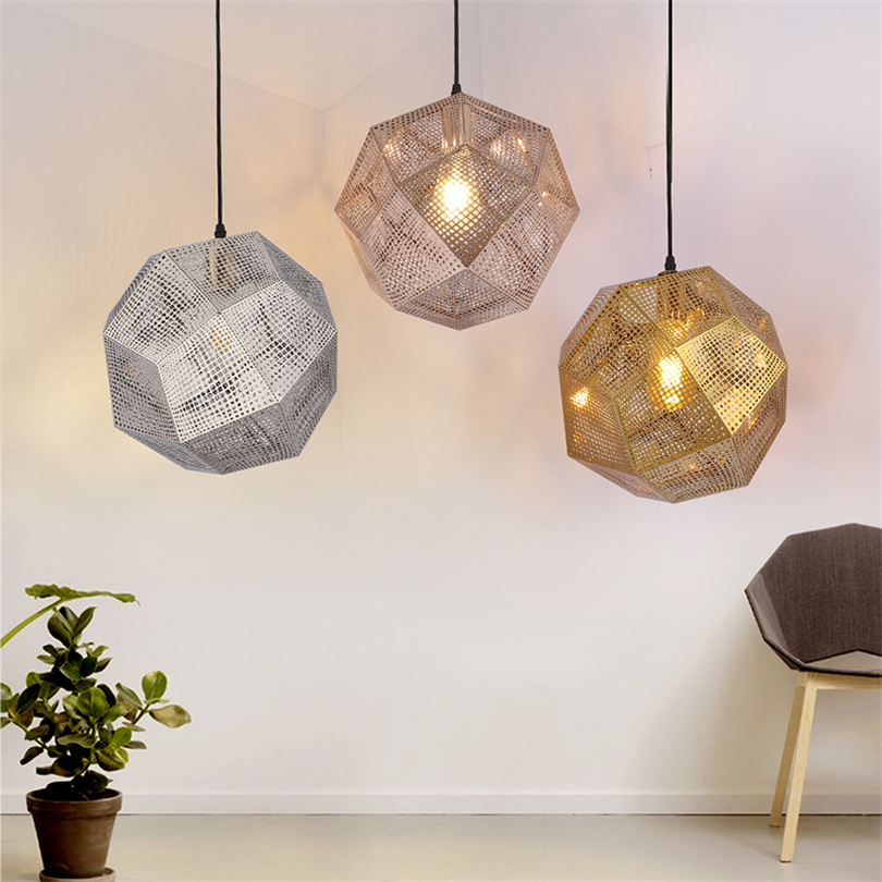 Nordic tom Geometry Box Bric dixon <font><b>Pendant</b></font> <font><b>Lights</b></font> Balcony Dining Room Living Room Modern Simplicity Stair Hanger Lamp Fixture image