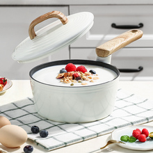 COOKER Induction Saucepan with Lid Insulating-Handle-Suit for All-Stovetop 18cm/2l Soup-Pan