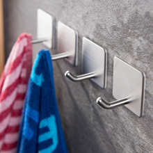 4Pcs Towel Hook Hanger Stainless Steel Clothes Wall Hooks Kitchen Key Hat Bag The On Bathroom Small