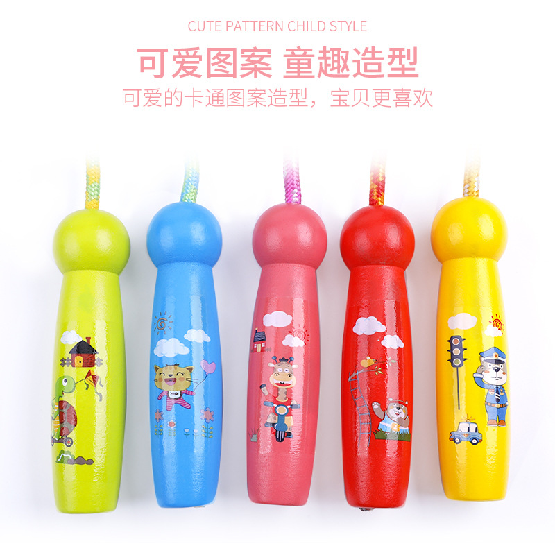 Kids Young STUDENT'S Women's 5 CHILDREN'S Park Men's Children 6 CHILDREN'S Beginners 7 Jump Rope Sports Wooden Toys 4 Have Adjus
