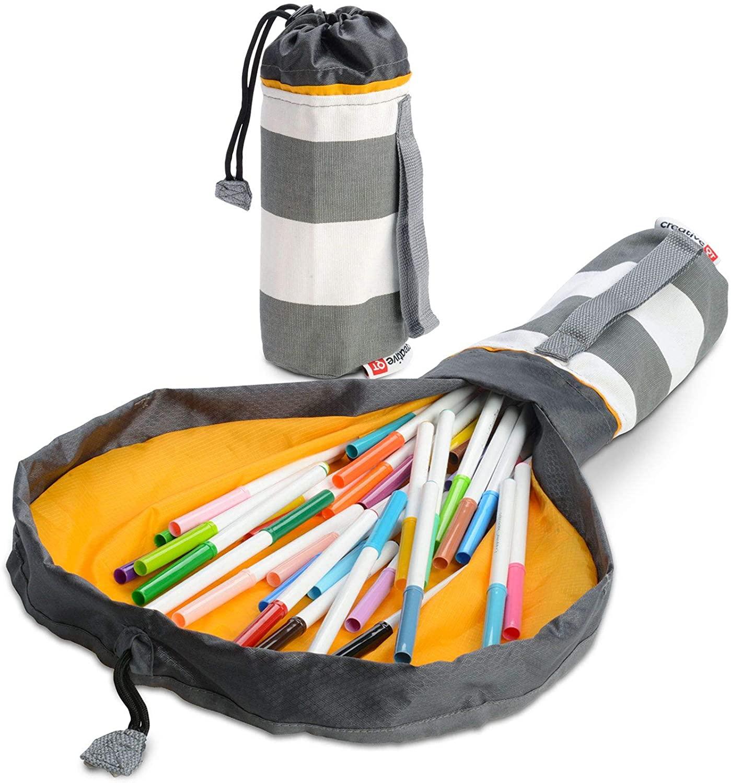 Diameter 50cm Quality Mini Toy Storage Bag And Play Mat/Kids Toys Basket