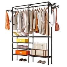 Clothes Hanger Coat Rack Floor Hanger Storage Wardrobe Clothing Drying Racks Porte Manteau Kledingrek Perchero De Pie
