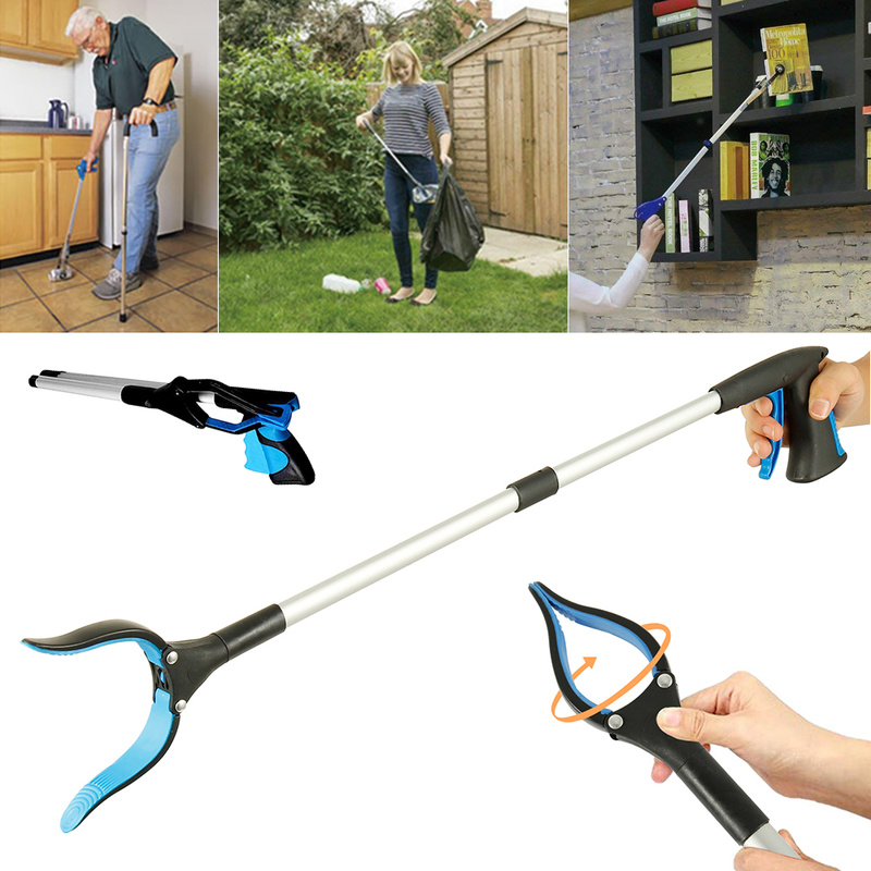Foldable Litter Reachers Pickers Pick Up Tools Gripper Extender Grabber Picker Collapsible Garbage Pick Up Tool Grabbers
