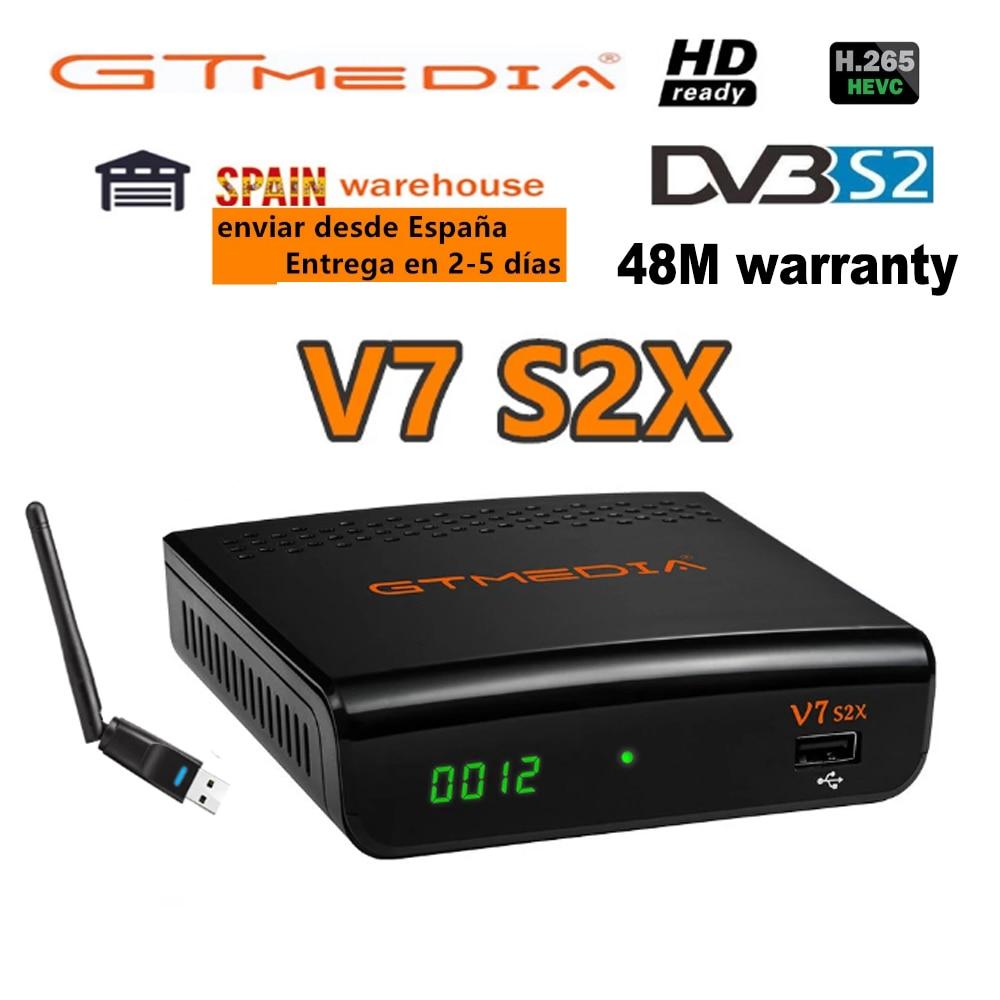 DVB-S2 спутниковый ресивер Gtmedia V7 S2X 1080P с USB WIFI, бесплатное обновление от gtmedia v7s HD, Быстрая Доставка, без приложения