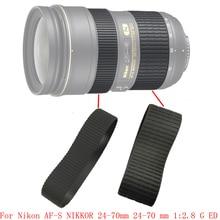 LENS Genuine Zoom + Focus Grip Rubber Ring For Nikon AF S NIKKOR 24 70mm 24 70 mm 1:2.8 G ED Repair Part