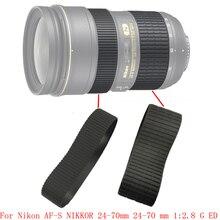LENTE Genuino Zoom + Messa A Fuoco Grip Anello di Gomma Per Nikon AF S NIKKOR 24 70mm 24 70mm 1:2. 8 G ED Parte di Riparazione