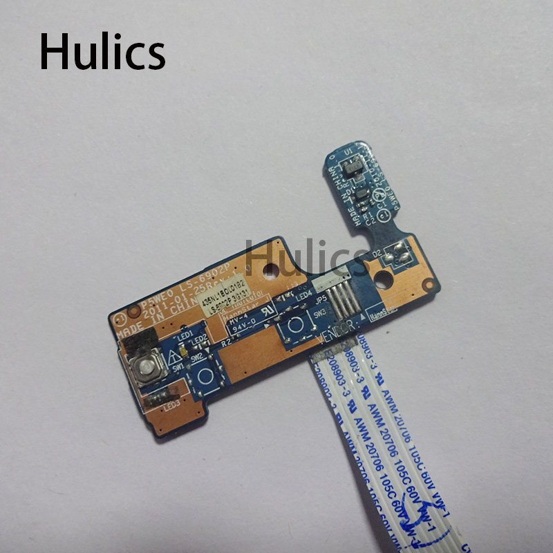 Hulics Original For ACER Aspire 5750 5750G Series Power Button Board With Cable P5WE0 LS-6902P
