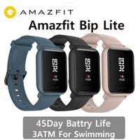 Internationalen Version Amazfit Bip lite Smart Uhr 3Atm schwimmen uhr Huami BIP 2 Smartwatch 45 Tage Batterie Android iOS-in Smart Watches aus Verbraucherelektronik bei
