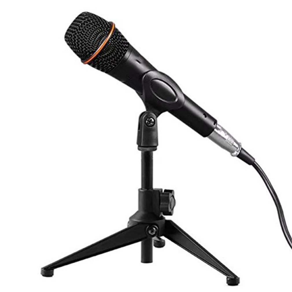 1Pcs Portable Metal Microphone Stand Desktop Tripod Stand Wired Wireless Microphone Stand Desktop