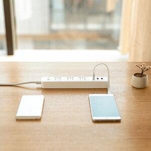 Image 5 - Original Xiaomi Power Streifen 2,1 EINE Schnelle Lade 3 USB Steckdose Stecker 6 Outlets Buchse Adapter US UK EU AU MI Power streifen