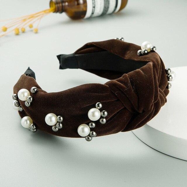 Купить простые бархатные жемчужные повязки для волос cn девочек и женщин картинки цена