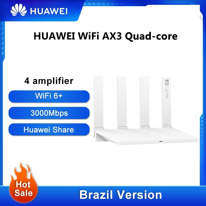 Original Brazil Version HUAWEI WiFi AX3 Pro Four Amplifiers WiFi 6+ Wireless Router WiFi 6+ Repeater 3000 Mbps NFC Dual Core