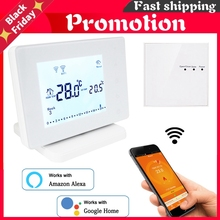 Wireless Wifi Smart Thermostat For Gas Boiler Actuator Room Temperature Controller Works With Google Home Alexa Usb Powered
