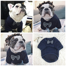 French Bulldog Clothes Sweater Shirt Winter Dog Clothes Hoodies Pug Clothing