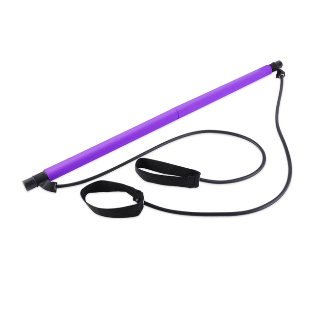 Fitness Multi-functional Yoga Pull Rods Portable Gym Pilates Bar Resistance Band Trainer Pilates Bar Gym Stick Workout 2