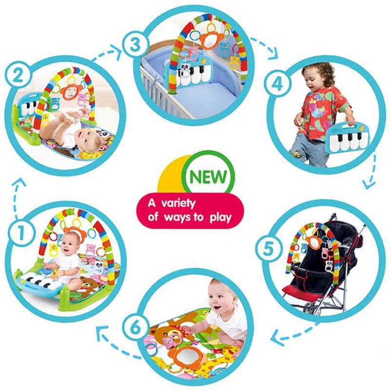 Детский игровой коврик, детский коврик, развивающий коврик-головоломка с фортепианной клавиатурой и милым животным, детский игровой коврик для занятий ползанием, игрушки