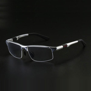 Image 1 - 3121 Optical Eyeglasses Frame for Men Eyewear Prescription Glasses Half Rim Man Spectacles Alloy Frame Eyeglasses