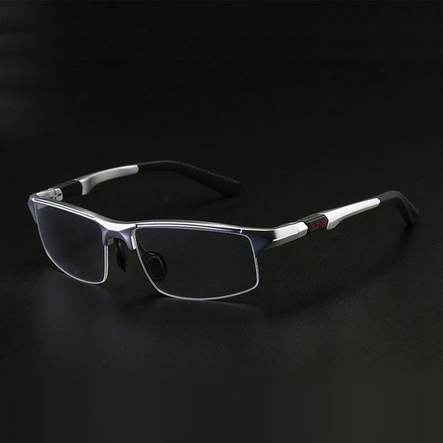 3121 Optical Eyeglasses Frame for Men Eyewear Prescription Glasses Half Rim Man Spectacles Alloy Frame Eyeglasses