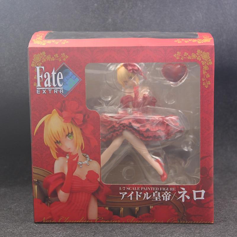 H8fda963bb6234fa8ade7aaabae35328bP Action Figure 20cm anime Fate Stay Night Extra vermelho sabre nero claudius césar augustus germânico anime figuras de ação pvc brinquedos