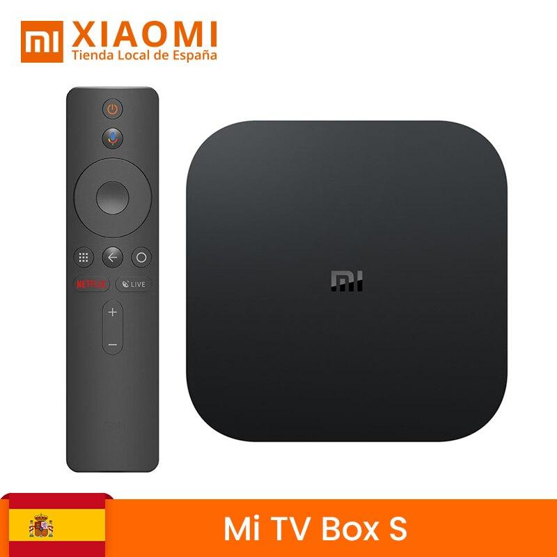 Global versão Xiaomi Minha Caixa S Inteligente Caixa de TV Android 8.1 K HDR Quad Core 2 4G 8G WI-FI Pesquisando Fundido Netflix IPTV Set top Box
