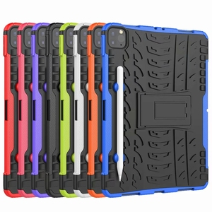 Image 5 - Defender Stand TPU PC Shockproof Protective Silicone Plastic Armor Case For iPad Cover Mini Air 1 2 3 4 5 6 Pro 9.7 10.5 11 10.2