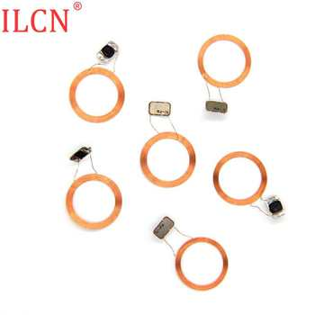 125KHZ RFID ID NFC Circular Tags Copper Wire Naked Coil Chip Keyfob Read Only Access Control EM4100 TK4100 Accessories 100pcs