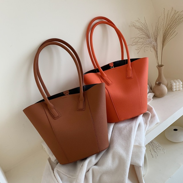 Solid Color PU Leather Shoulder Bags For Women 2019 Travel Handbags and Purses Lady Hand Bag Fashion Totes