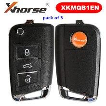 Chave Remota KEYECU XKMQB1EN XHORSE para V-W MQB Estilo 3 Botões para VVDI Ferramenta Chave 5 pçs/lote