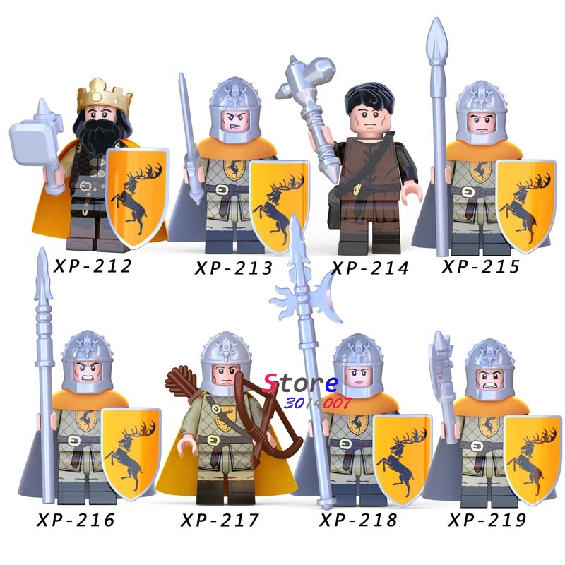 Single Gondor Fountain Guard Sword Lancers Game Of Thrones Gendry Medieval Archers Series Building Blocks Toys