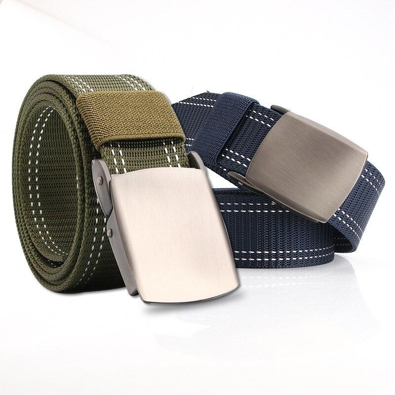 New Men's Female Belts Military Nylon Adjustable Belt Men Outdoor Travel Tactical Waist Belt With Plastic Buckle For Pants 130cm
