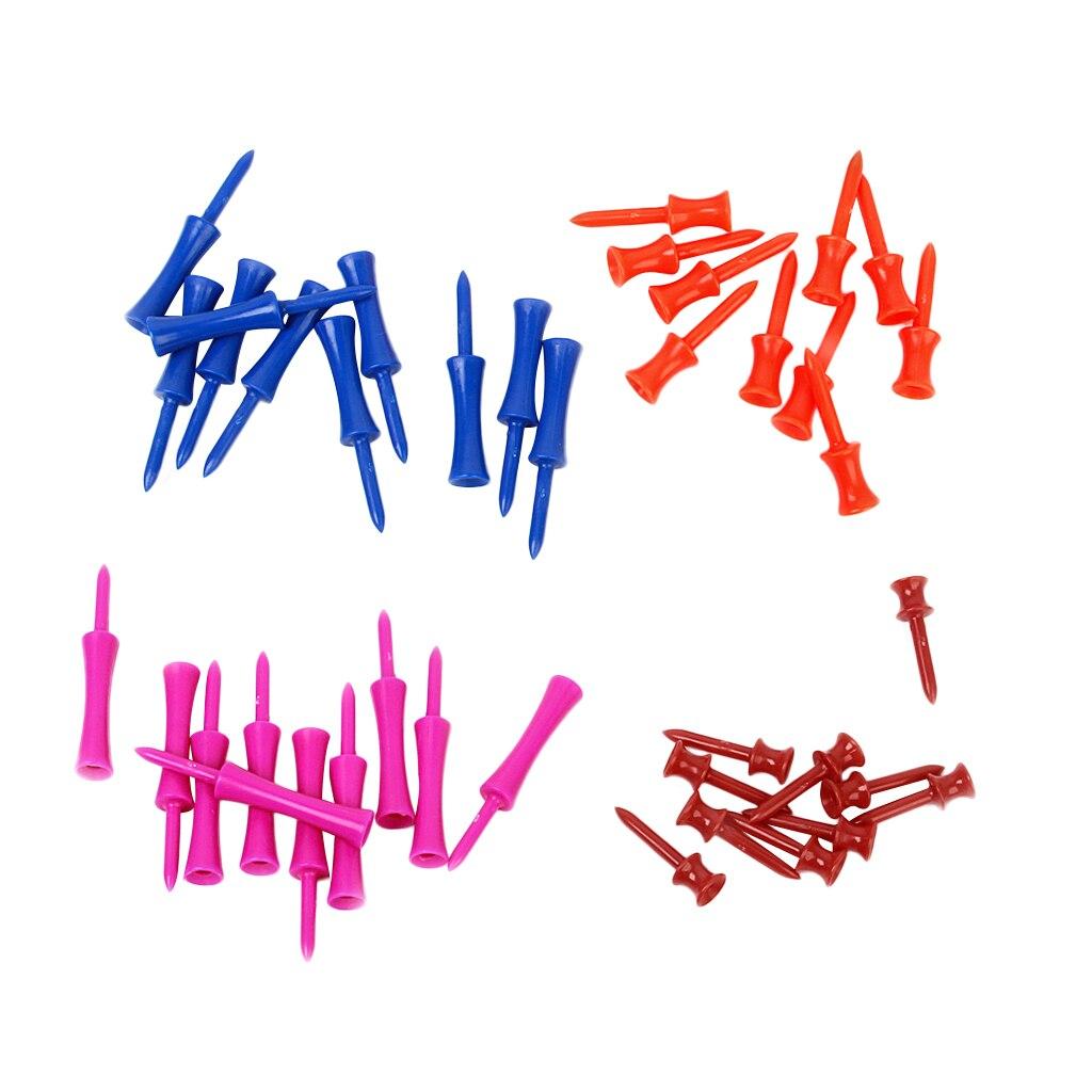 40Pcs Golf Tees Goltees Golf Accessories Plastic - 4 Size Color Mixed