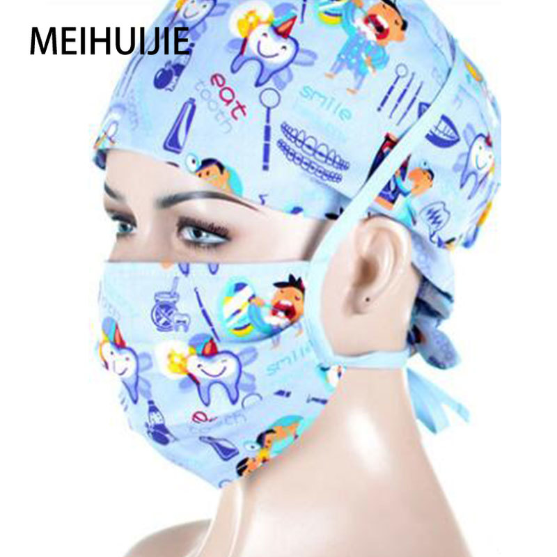 Medical Cap Surgical Caps Tooth Fairy Dentist Hospital Man And Woman Work Hat Veterinary Cap Clinic Pharmacy Physician Hat