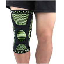 1pcs Sports kneepad spring support silica gel pad protection patella protector silica gel non slip thermal fabric silica aerogels