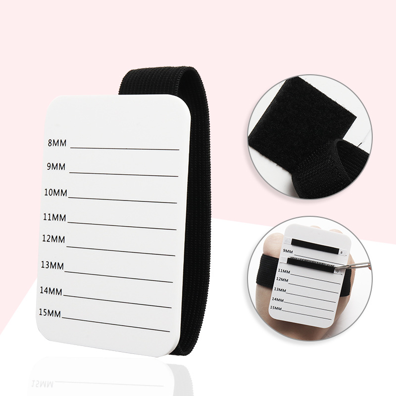 Acrylic Eyelashes Lashes Display Palette Extensions Pallet & Bandage Lash Glue Pad Eyelash Stand Holder Extension Makeup Tools