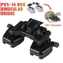 Binocular NVG PVS14 NVG, gafas con puente stent skip rhino, montura para brazos para casco de montaje rápido L4 G24, envío gratis