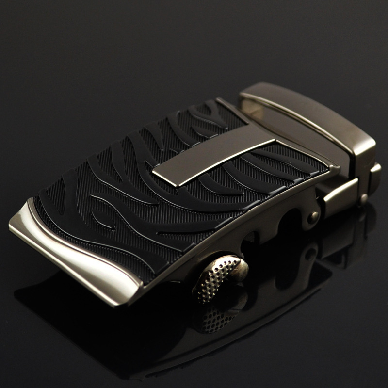 Genuine Men's Belt Head, Belt Buckle,Leisure Belt Head Business Accessories Automatic Buckle Width 3.5CM Luxury Belts LY125-0366