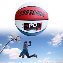 1 Set Outdoor Basketball Comfortable Grip Flat Resistant Polyurethane School Children Training Basketball for Hardwood Court