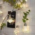 Геометрическая Бриллиантовая батарея USB медный провод гирлянды 3 м светодиодный Декор для рождественской гирлянды на окно luci светодиодный ...