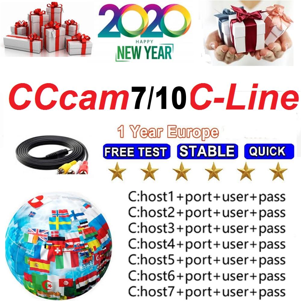 2020 DVB-S2 Receptor Cccam Cline For 1 2 Year Spain Europe Cline GTmedia V8 Nova V9 Super Satellite TV Receiver Europe Channels