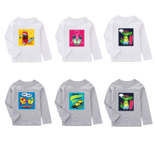 Boys T shirts With Cartoon Printed Kids Long Sleeve T shirt For Boys Girls Top Tees Autumn Spring Cotton Children Clothes