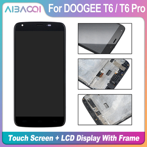 Image 5 - AiBaoQi New Original 5.5 inch Touch Screen+1280X720 LCD Display+Frame Assembly Replacement For Doogee T6/T6 Pro Android 6.0