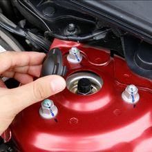 Комплект из 2 предметов, для автомобильного амортизатора удара отделкой Защитная крышка Кепки для Mazda 3 CX-5 CX-4 CX-8